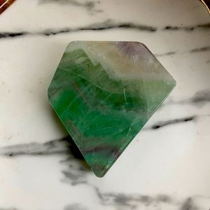 Polished Flourite a crystal